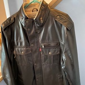 Levi's Brown Leather Jacket Large